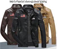 2016 Fashion Leisure Men Leather PU Jacket Wholesale All- mat...
