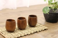 Wood Tea Cup Wooden Cup Eco- friendly Pot- bellied Cup 200pcs