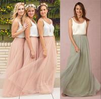 2017 Simplely Sage Зеленый Розовый Тюль платья невесты линия осень-зима Свадьба Гостевая партии платья горничной честь Boho BHLDN платья дешевые