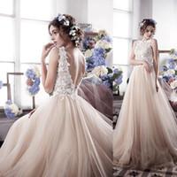 2017 Romantic Fairy Vintage Tulle Wedding Dresses Appliques ...