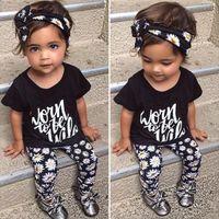 Free Shipping 100% Cotton Baby Girls Clothing Set 3pcs headb...
