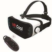 2016 Retail VR Lunettes 3D verres réalité virtuelle milliers de miroir magique 80 pouces écran VR Cool + Bluetooth kit télécommande
