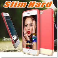 Pour Iphone 6 6s Plus Housse de protection anti-chocs Hybride Rugged caoutchouc dur Slider Style Protecteur SOFT Protection contre les rayures intérieures Hard S7 Cases