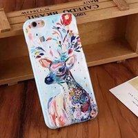 Для Apple Iphone 5 5S SE 6 6S Plus Case амортизирующим Мягкая силиконовая 3D рельефная печать Дизайн и всего тела Защитная крышка