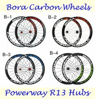 700C 50mm Bora Ultra Two Wheels Full Carbon Bike Wheel Set 3...