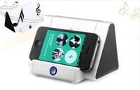 Универсальный Творческий беспроводной Bluetooth мини-динамик мобильный телефон резонанс индукции кронштейн стерео автоматический индукционные колонки для Iphone