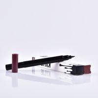 Kylie double eye-liner côté HOT MAKEUP Eyeliner Liquide Pencil imperméable Noir et brun MR228