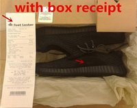 Box Receipt kanye West Boost Pirate Black Ultra Shoes Size 1...