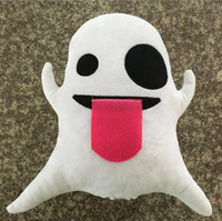New Style Little Ghost Cushion Cute Lovely Emoji Smiley Pill...