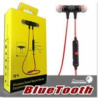 M9 Écouteur stéréo Bluetooth Casque sport Ecouteurs sans fil In Ear Bluetooth 4.0 Build dans le microphone pour les téléphones intelligents Hifi Music Player