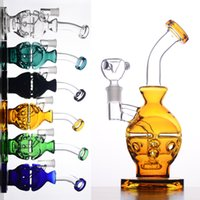 M04C COULEUR Verre Bong Fab Egg Bongs Original Faberge Egg Water Pipe Recycler Bong Oil Rig Dabs Glass