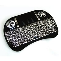 Wireless Laser Keyboard Air Mouse Backlight New RII I8 2. 4G ...