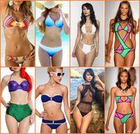 2016 Hot Sexy Womens Bikini Swimwear Push Up with Straps Pat...