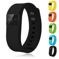 TW64 bracelet intelligent Bluetooth Smartband Sport Bracelet santé bracelet étanche fitness tracker Podomètre Pour IOS Samsung Android