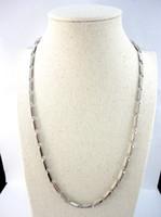 Chain 22.06inch bambou en acier inoxydable 56cm Diamètre 3.8mm Never Fade Chaînes Colliers Pour Bijoux Femmes Hommes Mode LR2404