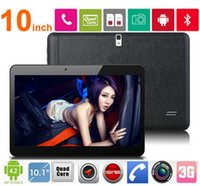 10 pouces Android 4.4 Tablet PC Quad Core double carte SIM Téléphone 3G Appel Tablette 1GB / 16Go Bluetooth GPS 3G Tablet 10