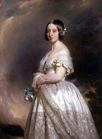 Подлинная расписанную красивый благородный леди Портрет Арт картина маслом на холсте высокого качества, королевы Виктории в нестандартном размере