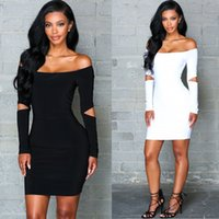 Autumn Women Package hip Dress off shoulder Neck Sexy Club P...