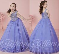 lavender New 2016 Little Girls Pageant Dresses Princess Bate...