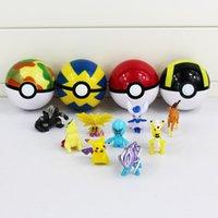 Poke Ball Figure Pop- up Poke Ball Mega Model Classic Anime A...