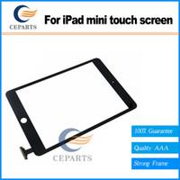 Meilleur prix Replacement Digitizer Touch Screen Remplacement de verre pour iPad mini avec expédition rapide Noir ou blanc