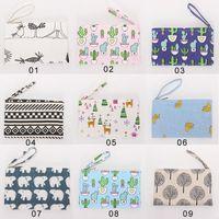 Canvas Fabric Clutch Bag with Handle Purse Handbag File Pock...