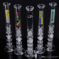 2016 prix de gros usine de verre Bong-haute qualité fumeurs verre barboteur bongs en verre avec 3 couches bongs filtre percolateur