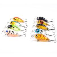Mini Сумасшедшие Колебание Песка Hard Crank Bait 4.5CM 4G Пластиковые рыболовную приманку Swimbait рыбы Япония Снасть 9PCS / много