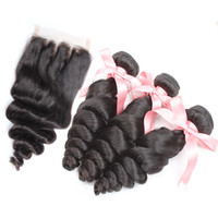 Brazilian Malaysian Virgin Hair Extensions Natural Color Loo...
