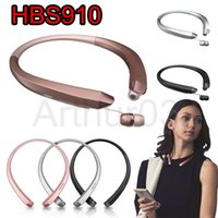 HBS910 Headphone HBS 910 fone de ouvido estéreo Sports Bluetooth 4.0 sem fio Fones de ouvido HBS-910 Headset Headphones para LG iPhone VS HBS800 HBS900