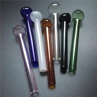 épaisse brûleur de verre avec 10cm tuyau d'eau de brûleur à mazout coloré vente mixte verre brûleur à mazout barboteur livraison gratuite