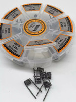 8 In 1 Boîte de bobine pré-construite Kit Super Juggernaut Escalier Staggered Super Clapton Taiji Clapton Alliance Twisted Hero Alliance Bobine pré-construite DHL