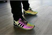 Хамелеон мужской и женской обуви ZX ПОТОКА Xeno новый отражающий черная змея дух досуг обувь