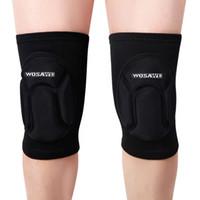 Brand WOSAWE 1PCS Elastic Knee Pads Breathable Football Bask...