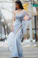 Arabic Soft chiffon Evening dresses 2016 Ruched Evening Dres...