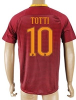 Thai Quality Customized 10 TOTTI Rome Soccer Jersey Shirts, t...
