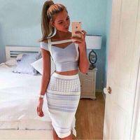 2016 New summer women two pieces spaghetti strap sexy bandag...