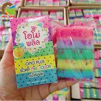 HOT OMO white plus soap rainbow soap whitening fruit essenti...