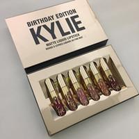 20 комплектов Горячие Кайли Косметика Matte Lipstick Liquid Mini Kit для губ День рождения Издание Limited
