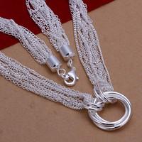 Collier pendentif argenté de bijoux d'argent de collier de bijoux d'argent