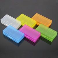 Portable Carrying Box 18650 Caja de la batería Caja de acrílico de almacenamiento 6 colores de plástico de seguridad Baterías Cajas para LG HG2 Sony VTC5 VTC5 Samsung 25R