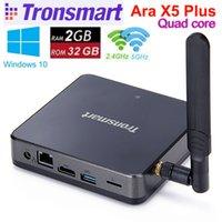 Tronsmart Ара X5 Plus для Windows 10 Mini PC TV Box Cherry Trail Z8300 Quad Core 2G RAM 32G ROM 2,4 / 5 ГГц LAN HDMI H.265