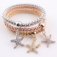Vintage Bracelets for Women 2016 New Style Starfish Charms f...