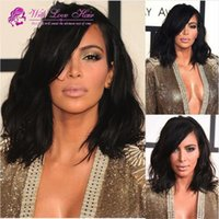 7A Quality Short Full Lace Human Hair Wigs For Black Women M...