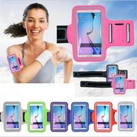 Pour Iphone 7 6s Note 5 Trous de respiration Case Universal Exécution bord Arm Band Sport GYMNASE Case Samsung Galaxy S6 S6 bord S7 DHL SCA116