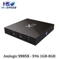 20pcs s905x X96 1GB 8GB android 6. 0 Marshmallow tv box Quad-...