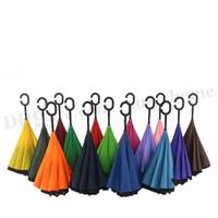 Creative Inverted Umbrellas Sun Rain Long- Handled Umbrella C...