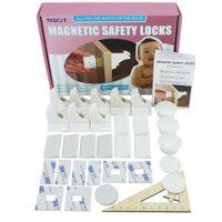 Магнитный Детские ребенка Дети Pet Proof Тумба Кабинет Ящика замок безопасности (8 замков и 3 ключа)
