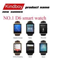 NO.1 D6 montre Smart Watch MTK6580 Android Smartwatch 1,63 pouces 320 * 320 support ce qui est l'application facebook Heart Rate navigateur pour Android 5.1