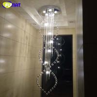 Brief Creative Chandelier K9 Crystal Stairs Suspension Light...